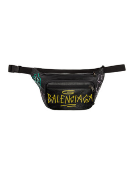 Black & Yellow Explorer Graffiti Belt Bag by Balenciaga