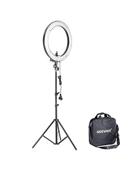 Neewer 14 Inches Undimmable Fluorescent Ring Light Kit: 400 W 5500 K Ring Light, 75 Inches Light Stand, And Hot Shoe Adapter For Makeup, Youtube Video by Neewer