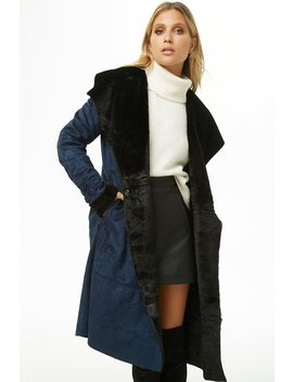 Faux Suede Longline Jacket by Forever 21