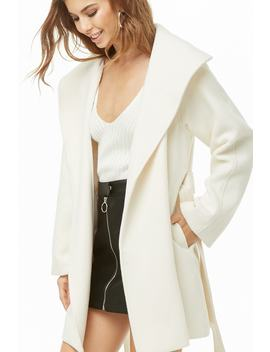 Oversized Lapel Wrap Coat by Forever 21