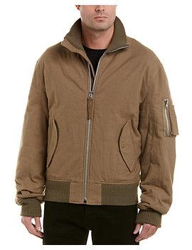 Helmut Lang High Collar Wool Trim Bomber Jacket by Helmut Lang