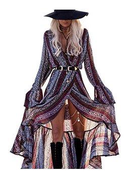 R.Vivimos Women Summer Long Sleeve Cardigan Sexy Maxi Long Dresses by R.Vivimos