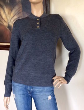 Uniqlo Jw Anderson Women Dark Gray Military Sweater Nwt Size M by Uniqlo