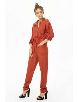 Tapered Leg Drawstring Jumpsuit by Forever 21