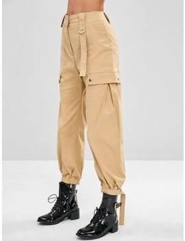 High Waisted Cargo Pants by Zaful