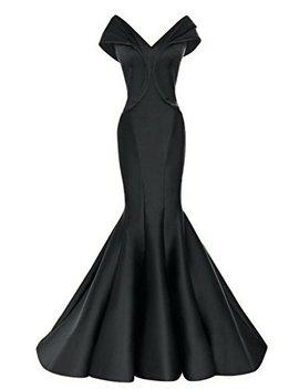 Promworld Women's Formal Dress Satin Mermaid Evening Dresses Long by Promworld