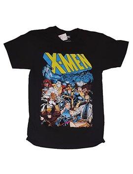 Marvel Comics X Men Group Shot Black Graphic T Shirt by Fashion