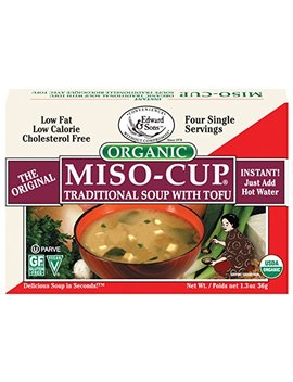 Miso Cup Organic Traditional Soup With Tofu, Single Serve Envelopes In 4 Count Boxes, 1.39 Oz (Pack Of 12) by Edward & Sons