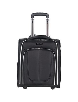 "Kenneth Cole Reaction Lincoln Square 16"" 1680d Polyester 2 Wheel Underseater Carry On, Black by Kenneth Cole Reaction"