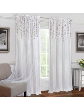 Achim Willow Rod Rocket Window Curtain Panel by Bed Bath And Beyond