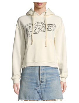 Doll Embellished Logo Pullover Hoodie by Re/Done