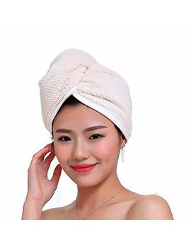 Fyore Ultra Absorbent Hair Turban Towel Quick Dry Anti Frizzy Microfiber Luxury Design For Women (Beige) by Fyore