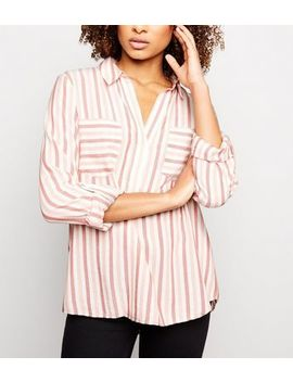 Pink Stripe Overhead Shirt by New Look