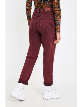 Bdg Overdyed Maroon Mom Jeans by Bdg