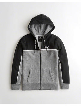 Stretch Nylon Full Zip Hoodie by Hollister