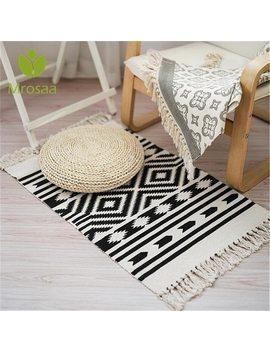 Nordic Style Rhombus Carpets For Sofa Living Room Bedroom Rug Yarn Dyed Sofa Cotton Blanket Multifunction Rug Tapestry Bedspread by Mrosaa