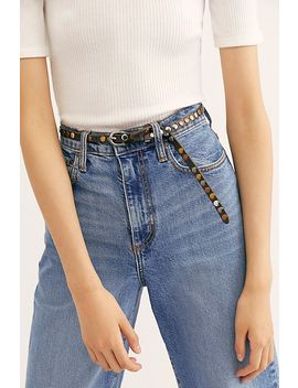 Skinny Studded Moto Belt by Free People