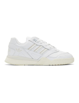 White & Off White Ar Trainer Sneakers by Adidas Originals