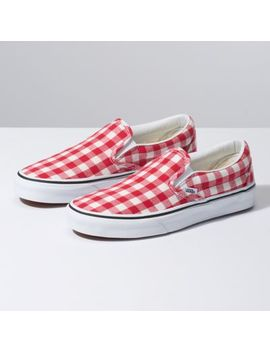 Gingham Slip On by Vans