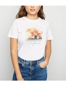 White Ciao Slogan Dog T Shirt by New Look