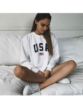 Authentic Brandy Melville White Oversized Fleece Crewneck Erica Usa Sweatshirt by Brandy Melville John Galt