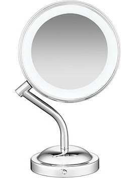 Online Only Lifetime Led Lighting 1 X/5 X Dual Sided Polished Chrome Mirror by Conair