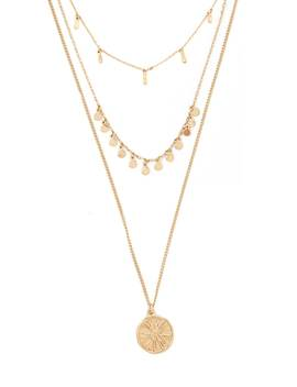 Layered Pendant Chain Necklace Set by Forever 21