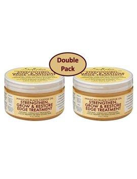 Shea Moisture Jamaican Black Castor Oil Strengthen Grow & Restore Edge Treatment 4 Oz Value Pack Of 2 Each by Shea Moisture