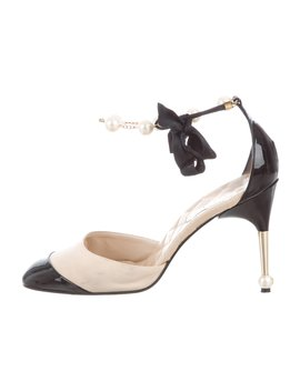 Pearl Cap Toe Pumps by Chanel