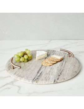 Marble + Copper Handled Cheese Board by West Elm