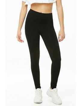 Solid Seamless Leggings by Forever 21