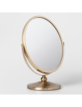Oval Vanity Mirror Brass   Threshold™ by Threshold