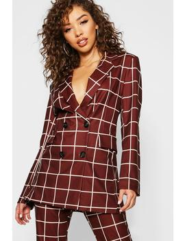 Check Oversize Blazer by Boohoo