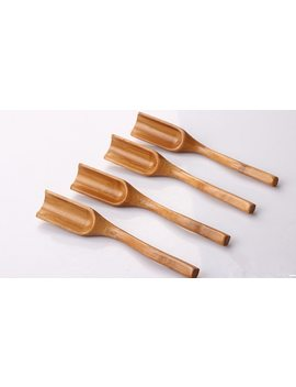 New Natural Bamboo Tea Spoon Honey Sauce Suger Wooden Spoons Coffee Scoop Tea Utensil Kitchen Accessorie Tableware by Ali Express