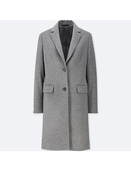 Ladies Chesterfield Coat From Wool Cashmere Mix by Uniqlo