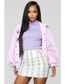 Corduroy Oversized Jacket   Lavender by Fashion Nova