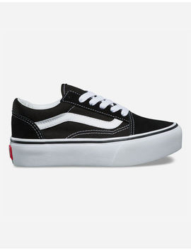 Vans Old Skool Platform Black & True White Kids Shoes by Vans