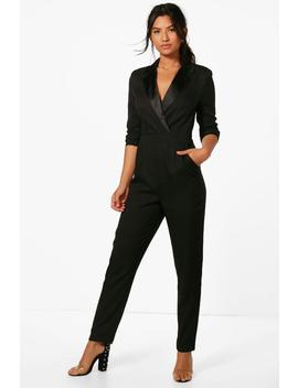 Tailored Tux Jumpsuit by Boohoo