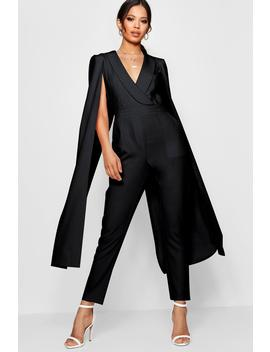 Cape Woven Tailored Jumpsuit by Boohoo