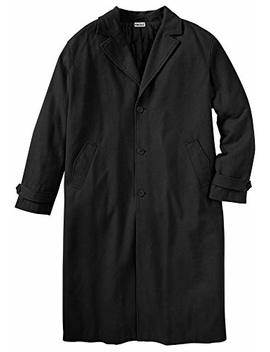 King Size Men's Big & Tall Wool Blend Long Overcoat by King Size