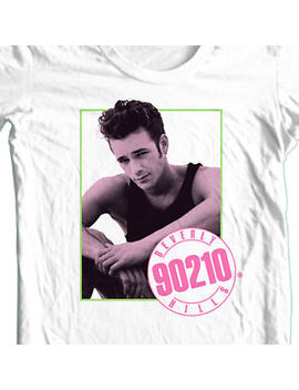 Beverly Hills 90210 T=Shirt Luke Perry Dillion 80's 90's Retro White Tee Cbs773 by 90210