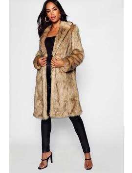Tall Faux Fur Coat by Boohoo