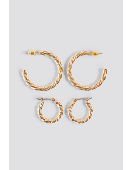 Braided Earrings Set by Na Kd Accessories