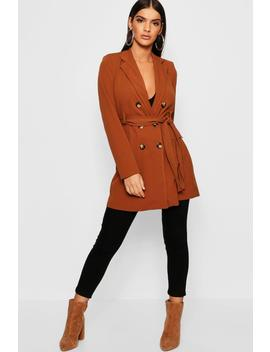 Double Breasted Longline Blazer by Boohoo