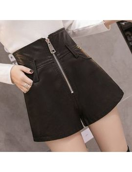 Helmsil   Faux Leather Wide Leg Shorts by Helmsil