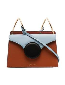 Brown And Blue Phoebe Mini Leather Crossbody Bag by Danse Lente