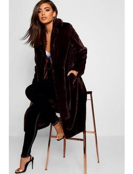 Maxi Soft Faux Fur Coat by Boohoo