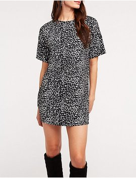 Leopard T Shirt Dress by Charlotte Russe