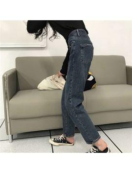 Cosmo Corner   High Waist Straight Leg Jeans by Cosmo Corner