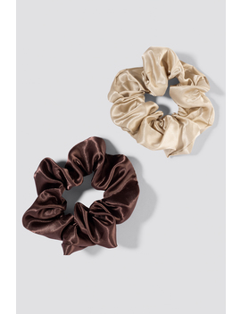 2 Pack Satin Scrunchies by Na Kd Accessories